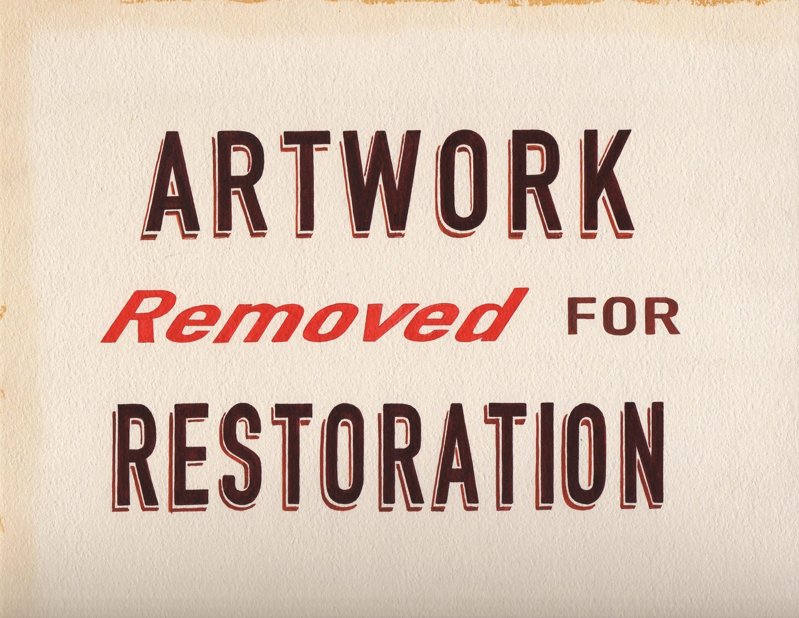 Archie Scott Gobber, Artwork Removed, gouache on board